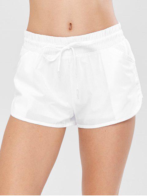 Pantalones cortos deportivos de entrenamiento a cuadros - Blanco L Mobile