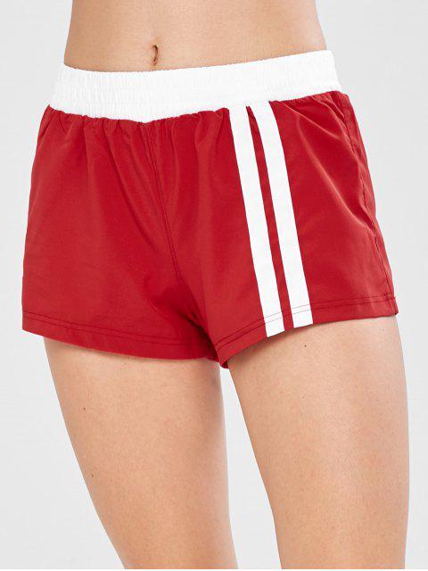 Shorts de entrenamiento de entrenamiento en capas - Rojo L Mobile
