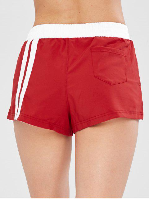 Laufende Training Layered Shorts - Rot L Mobile