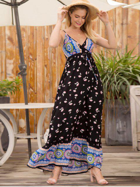 Vestido Shirred Maxi Cami Floral - Multi M Mobile