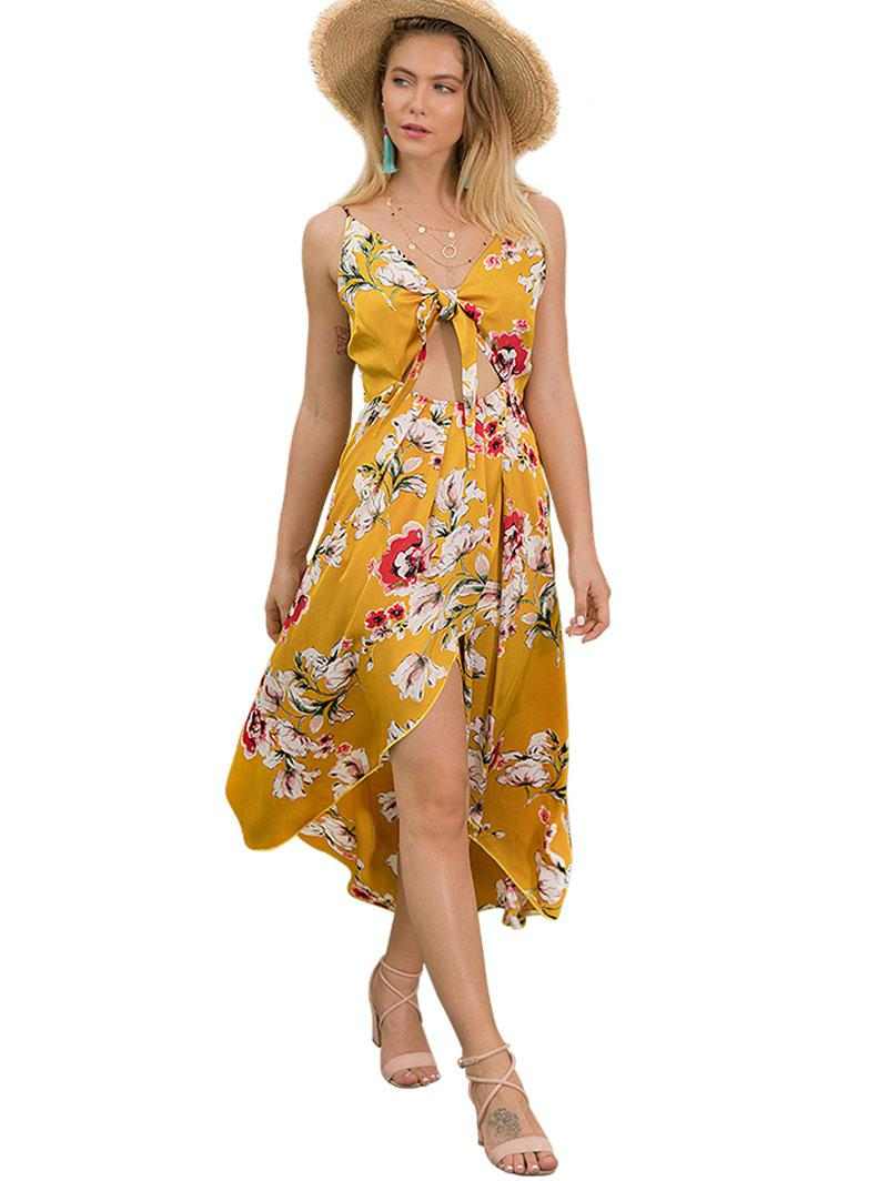 Floral Cutout Cami Dress thumbnail