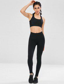 33f59e7ab75d29 42% OFF] 2019 Textured Knit Compression Seamless Sports Leggings In ...