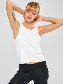 16424046c5a2a 16% OFF  2019 Jersey Gym Workout Tank Top In WHITE