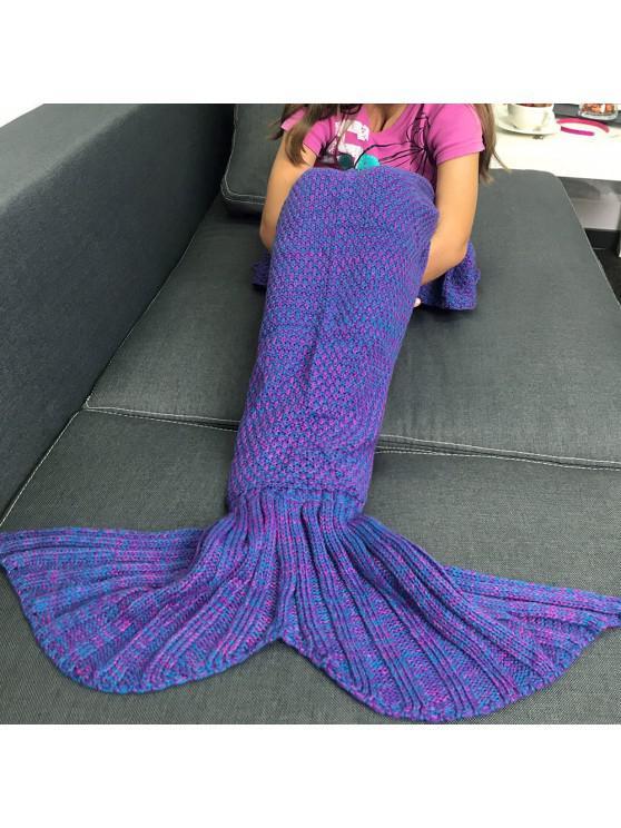 Couverture Sac de Couchage Forme Queue de Sirène - Bleu-Violet