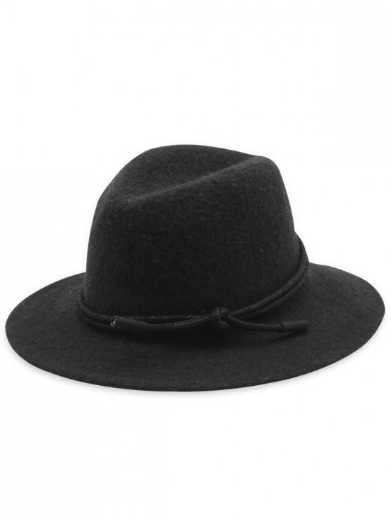 new Solid Color Foldable Jazz Hat - BLACK