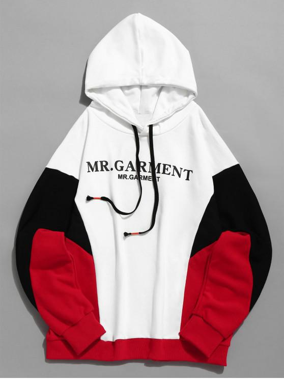outfits Contract Color Paint Splatter Pullover Hoodie - WHITE M