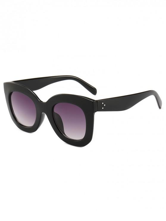 womens Plastic Frame Rivets Inlaid Driving Sunglasses - BLACK