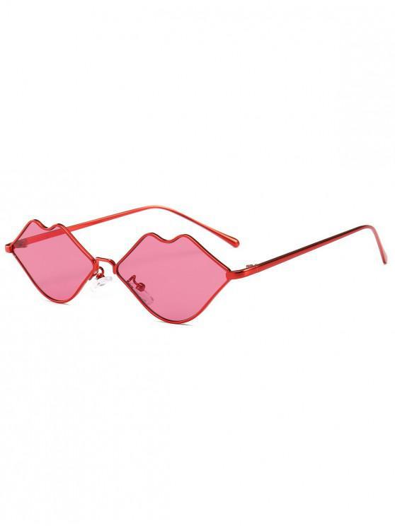 hot Stylish Sexy Lip Frame Novelty Sunglasses - RED
