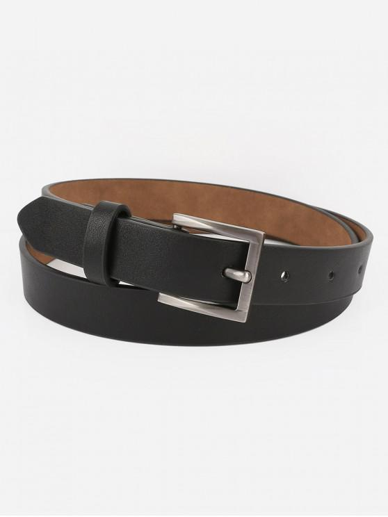outfit Casual Metal Buckle Artificial Leather Belt - BLACK