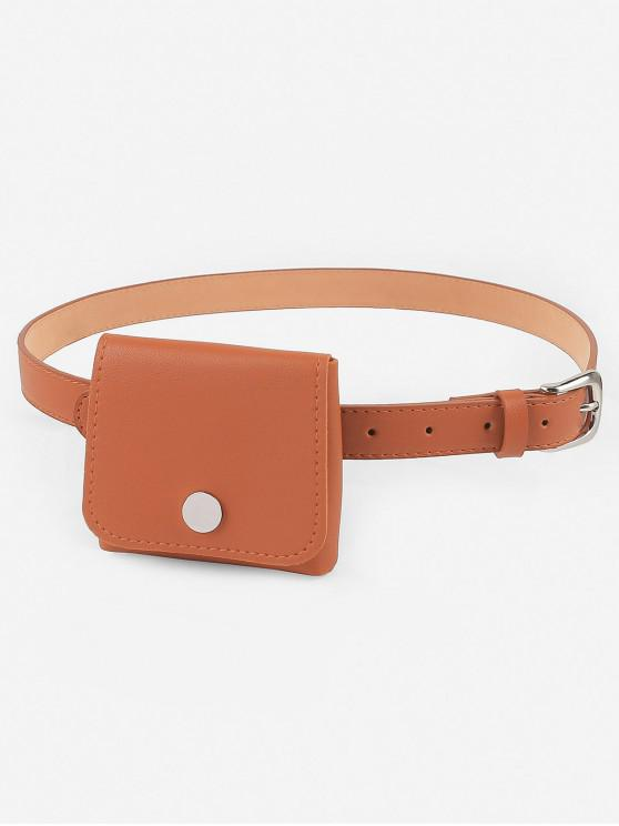 ladies Stylish Mini Funny Bag Embellished Waist Belt Bag - ORANGE SALMON