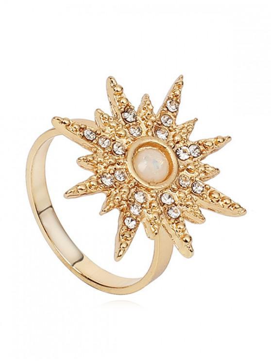 affordable Rhinestone Sun Design Ring - GOLD