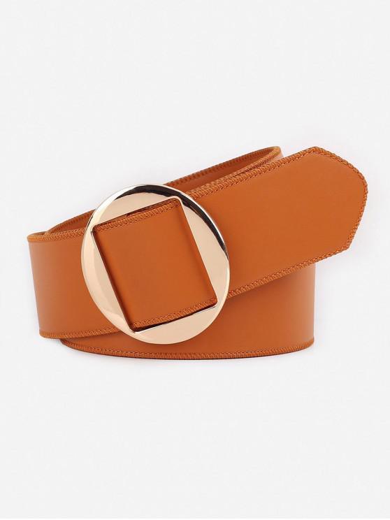 chic Vintage Geometry Buckle Faux Leather Belt - TIGER ORANGE