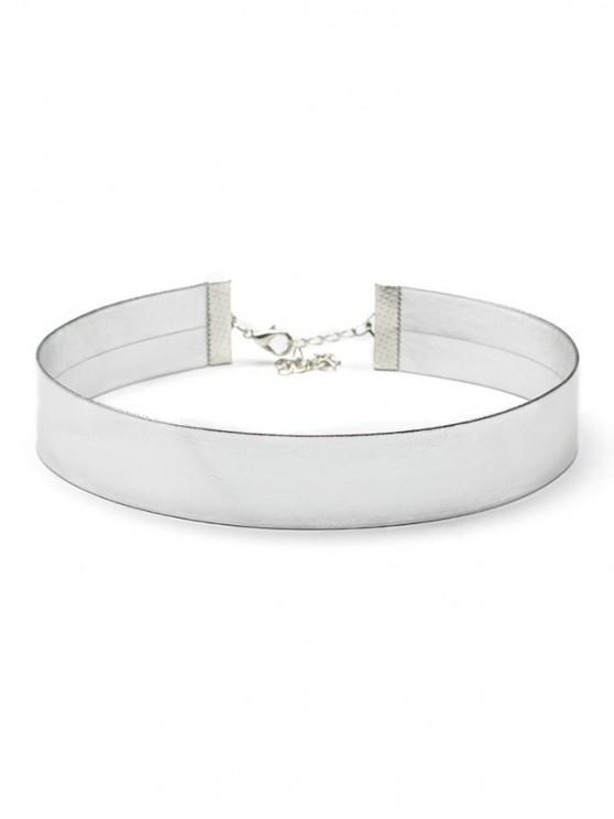 chic Artificial Leather Choker Necklace - SILVER