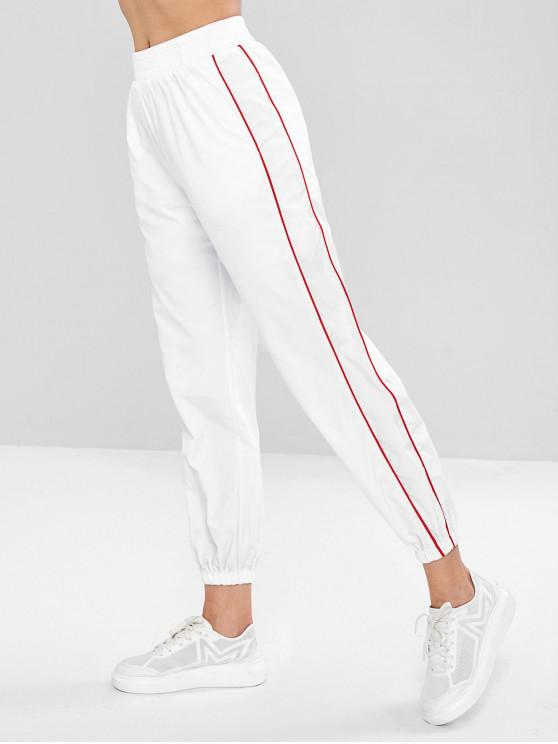 new Swishy Track Joggers Pants - WHITE M