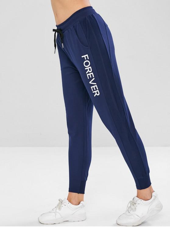 Pantaloni Con Tasca E Coulisse - Cadetto blu XL