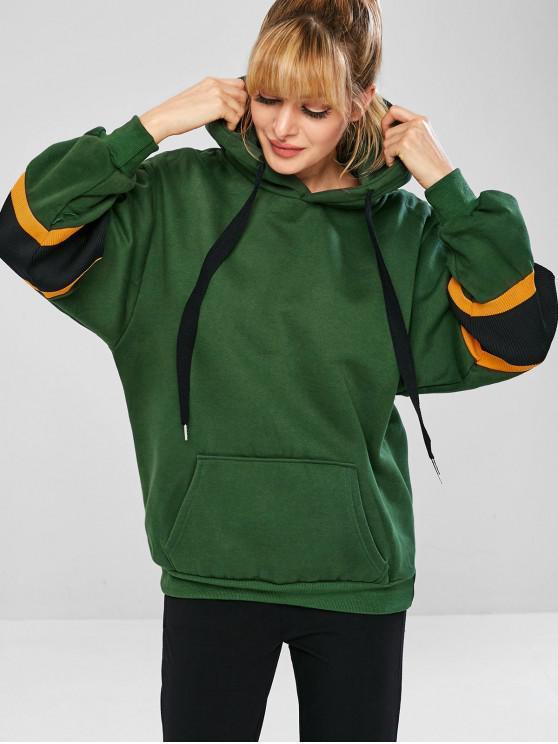 Fleece Lined Pouch Sports sudadera con capucha de gran tamaño - Verde Oscuro L