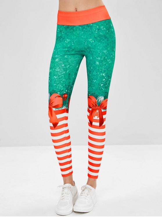 Leggings Stampati Di Natale - Multi Colori-A M