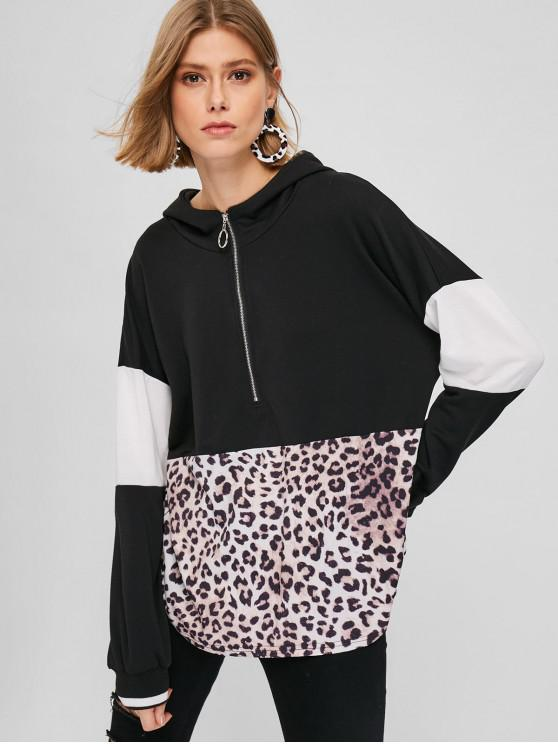 Толстовка с капюшоном и леопардовым принтом - Многоцветный Один размер