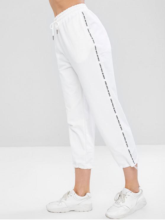 Pantaloni Con Tasca E Coulisse - Bianca XL