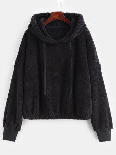 ZAFUL Oversized Fleece Pullover Hoodie - Black L