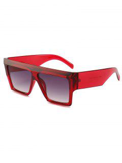 Plastic Thick Frame Driving Sunglasses - Red