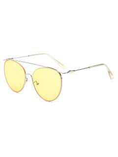 Statement Crossbar Pilot Sunglasses - Yellow