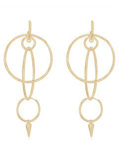 Geometric Design Alloy Dangle Earrings - Gold