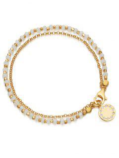Bohemian Rhinestone Round Shape Bracelet - White