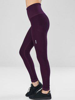 Seamless Compression Sports Leggings - Dark Orchid M