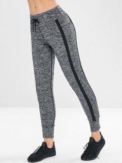 Space Dye Pocket Sport Jogger Pants - Dark Gray M