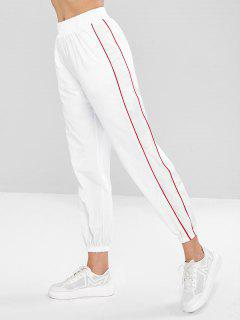 Swishy Track Joggers Pantalones - Blanco M