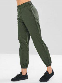 Shimmering Joggers Pants - Army Green M
