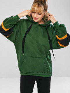 Fleece Lined Pouch Sports Sudadera Con Capucha De Gran Tamaño - Verde Oscuro Xl