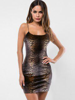 Vestido Cami Bodycon Estampado Tigre - Multicolor M