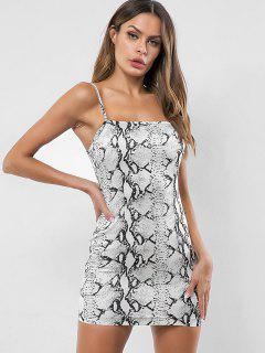 Snakeskin Print Bodycon Cami Dress - Multi L