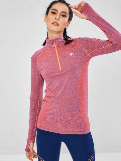 Quarter Zip Space Dye Sports Top - Multi M
