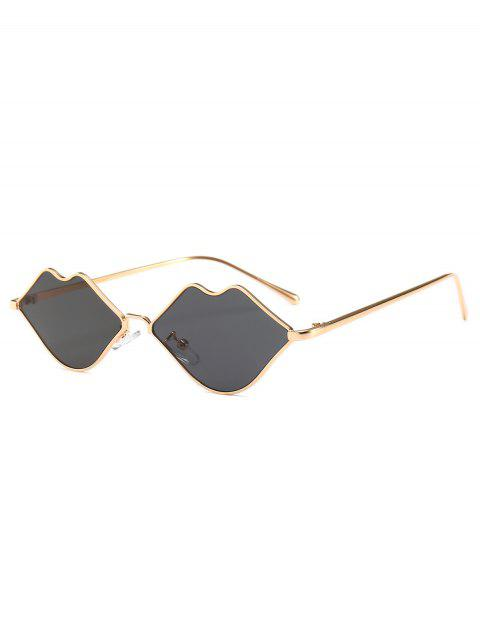 outfits Stylish Sexy Lip Frame Novelty Sunglasses - GRAY  Mobile