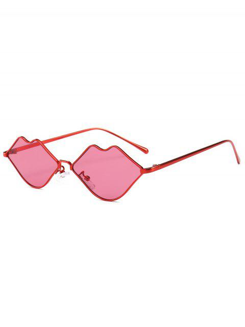hot Stylish Sexy Lip Frame Novelty Sunglasses - RED  Mobile