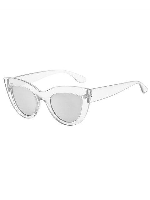hot UV Protection Full Frame Catty Sunglasses - SILVER  Mobile