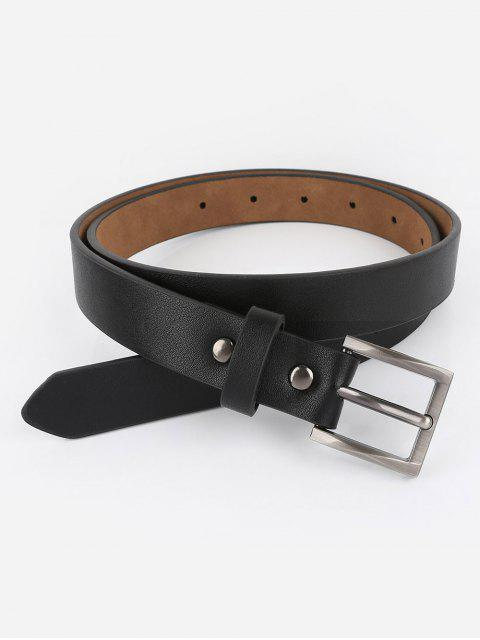 outfit Casual Metal Buckle Artificial Leather Belt - BLACK  Mobile