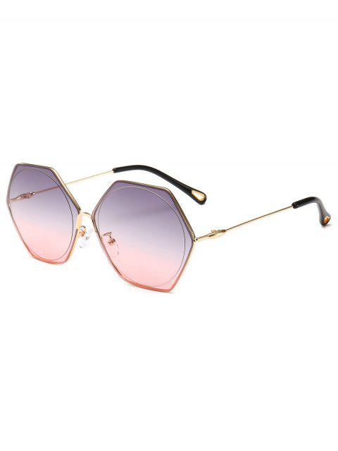 shops Stylish Hollow Out Leg Irregular Lens Sunglasses - LIGHT PINK  Mobile