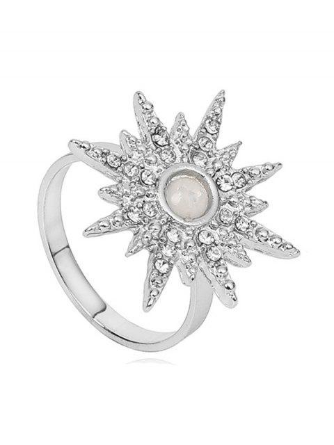 womens Rhinestone Sun Design Ring - SILVER  Mobile