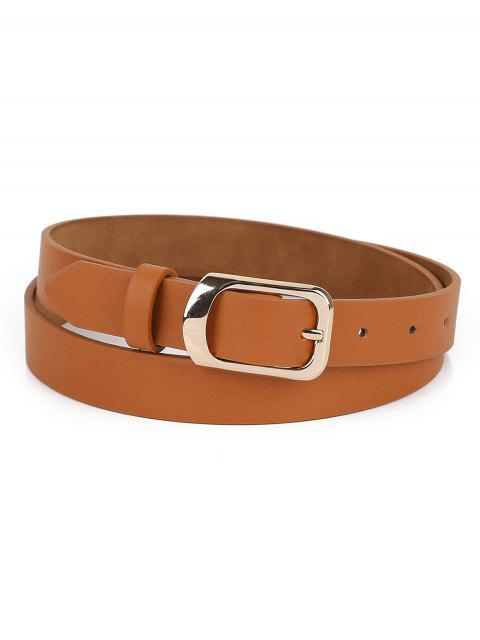 new Alloy Buckle Artificial Leather Belt - TIGER ORANGE  Mobile