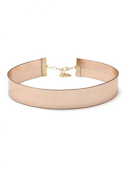 latest Artificial Leather Choker Necklace - ROSE GOLD  Mobile