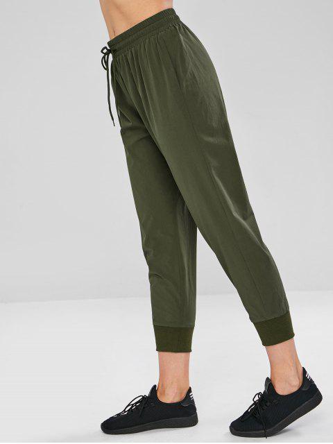 ZAFUL Drawstring Pocket Sport Pants - Ejercito Verde S Mobile