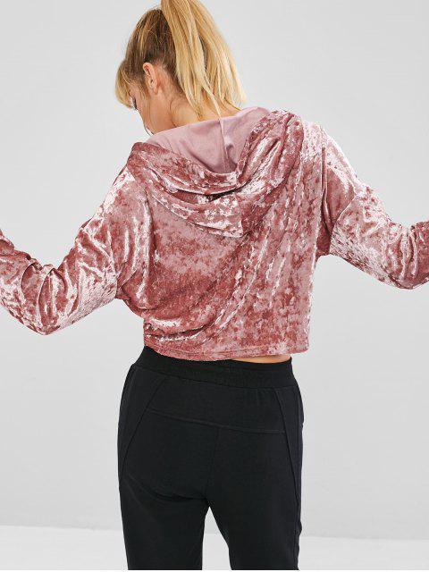 ZAFUL Drop Shoulder - Samtfreier Hoodie - Rosa M Mobile