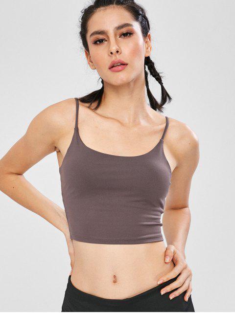Cami Sports - Trägershirt mit Shelf-BH - Taupe L Mobile