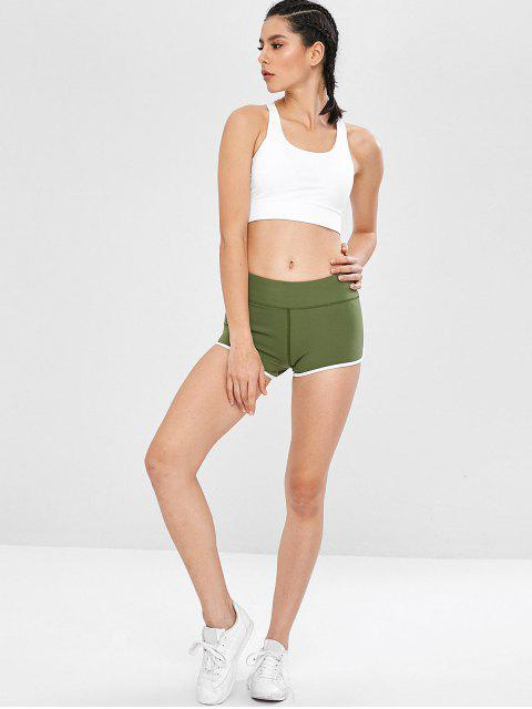 Fitness-Bike-Shorts mit aktivem Kontrast - Dschungel Grün M Mobile