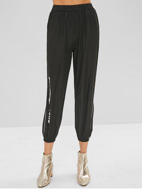 sale Cuteandpsycho Graphic Jogger Pants - BLACK M Mobile