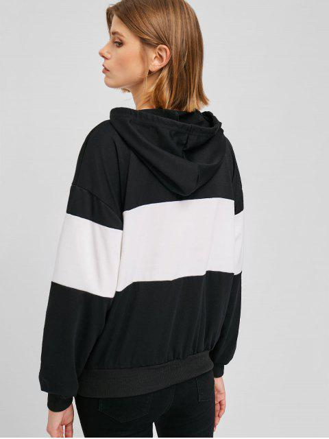 trendy Front Pocket Two Tone Hoodie - MULTI-B M Mobile